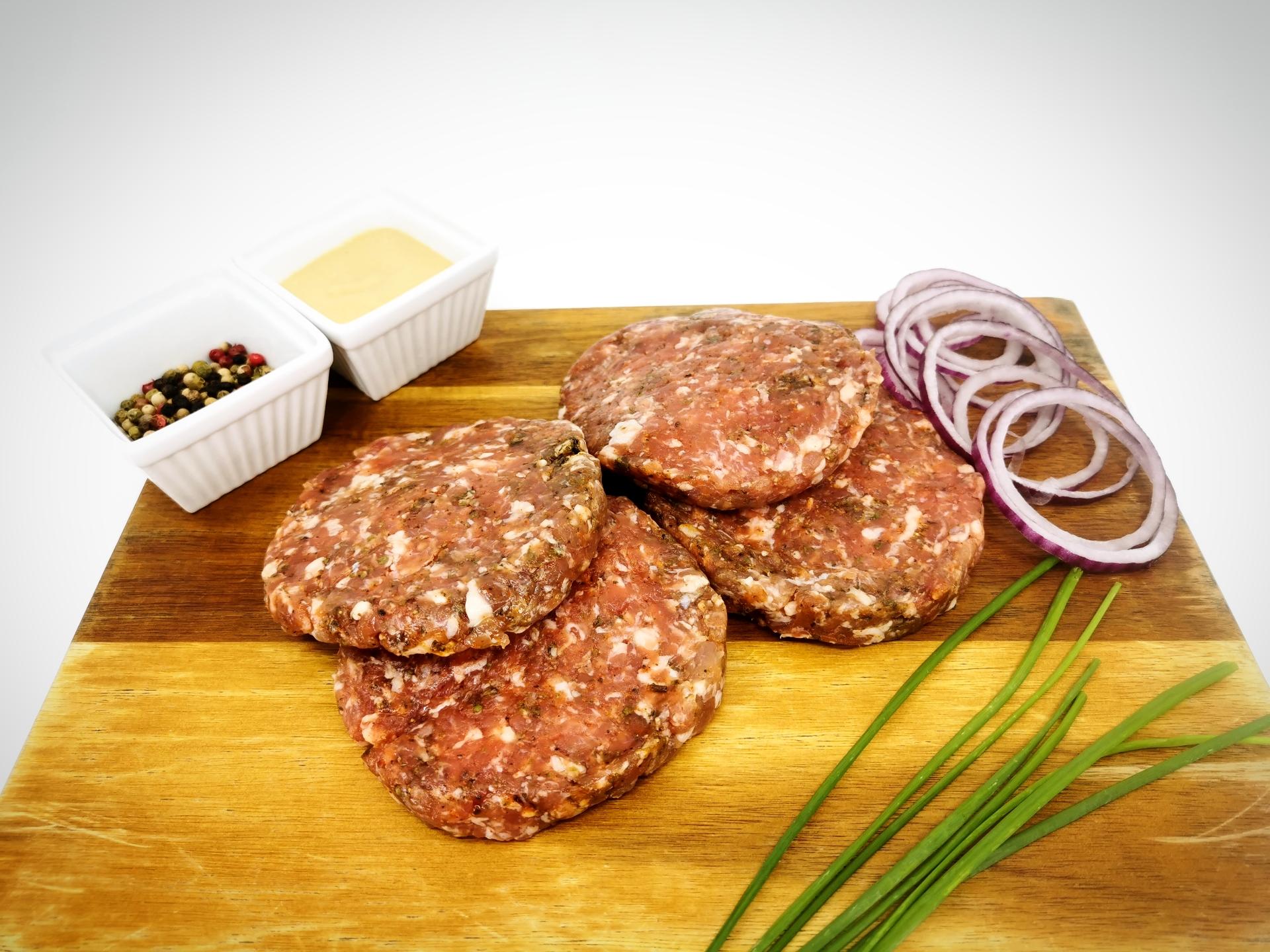 American sausage patty 360g / Americké masové placičky 360g
